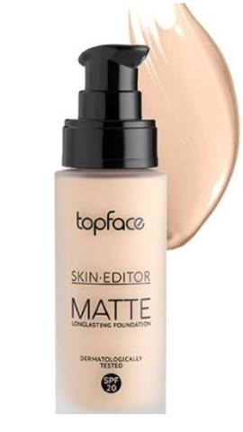 TopFace Тональная основа матовая Skin Editor Matte тон 03, натуральный - PT465 (32мл)
