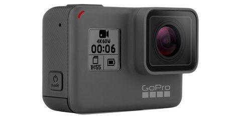 Камера GoPro HERO6 Black (CHDHX-601) вид спереди сбоку