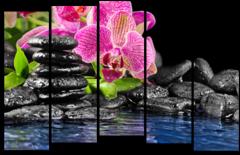 """Модульная картина """"Цветы в воде"""""""