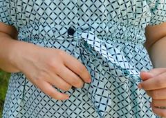 Нета. Стильная блуза для больших размеров. Ромб мята.