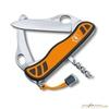 Нож перочинный Victorinox Hunter XS One Hand 111мм 5 функций с фикс оранжево-черный (0.8331.MC9) нож victorinox hunter xs one hand с фиксатором 5 функций 111мм