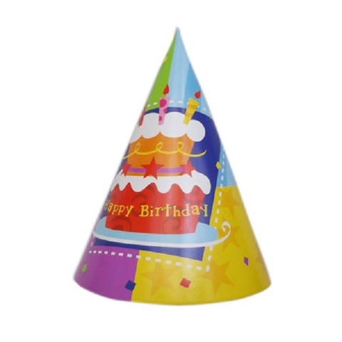 Колпак Торт С Днем Рождения/6шт.
