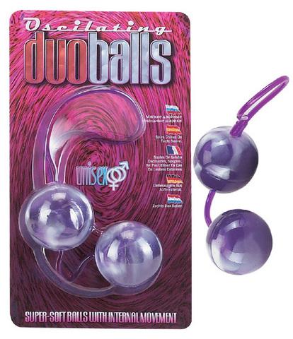Фиолетово-белые вагинальные шарики со смещенным центром тяжести