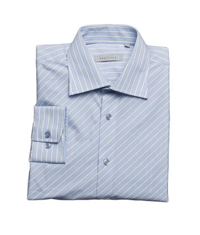 Рубашка Grostyle дл/рукав голубая диагональная полоска