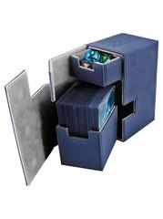 Ultimate Guard - Кожаная синяя коробочка с отделением для кубиков
