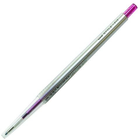 Гелевая ручка 0,38 мм Uni Style Fit - Pink - пурпурно-розовые чернила