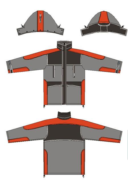 Выкройка утеплённого костюма «Фрост» технический рисунок