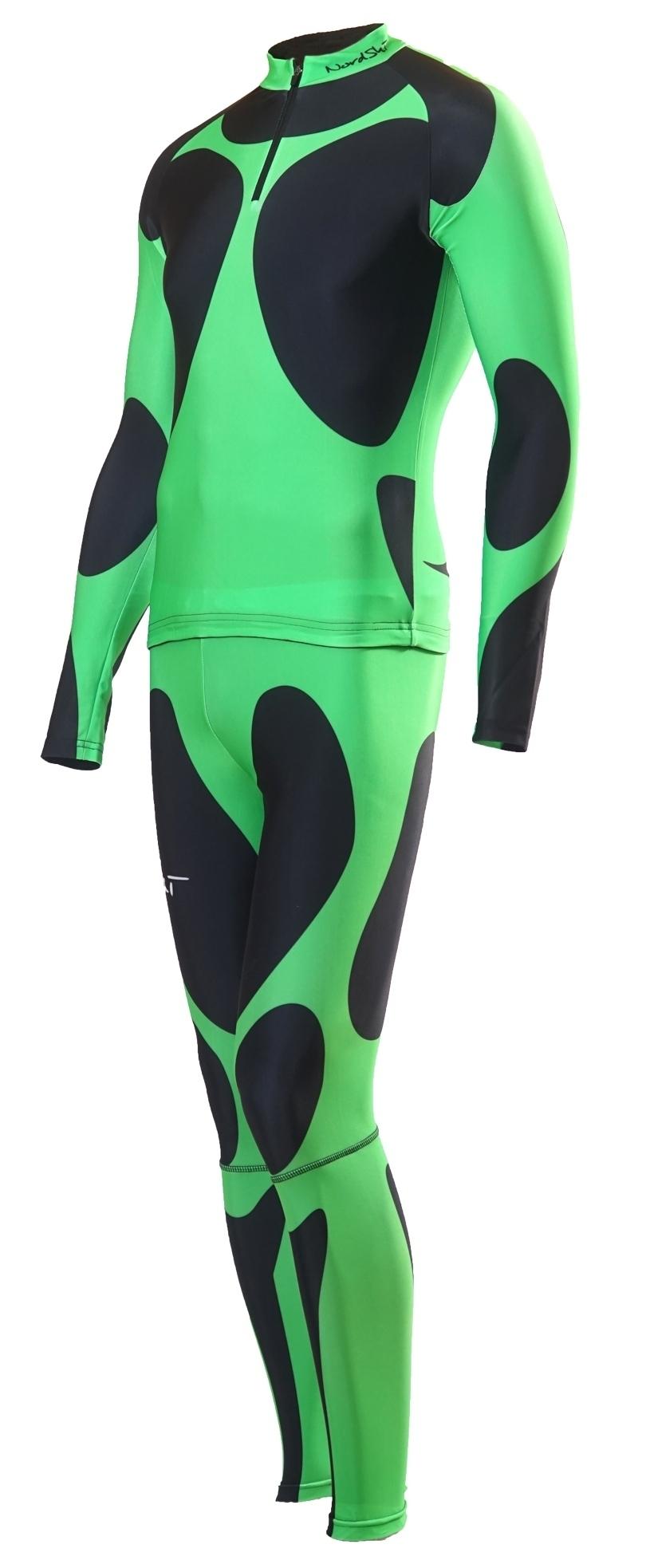 Лыжный гоночный комбинезон nordski premium зеленый фото