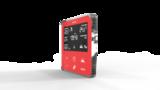 Термостат теплого пола Heltun (Красная панель, Хромированная рамка)