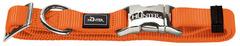 Ошейник для собак Hunter ALU-Strong M (40-55 см) нейлон с металлической застежкой оранжевый