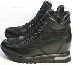 Ботиночки ботильоны сникерсы Evromoda 965 Black
