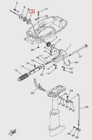 Втулка резиновая  для лодочного мотора T5 Sea-PRO (9-3)
