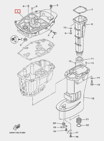 Поддон для лодочного мотора F20 Sea-PRO (21-1)