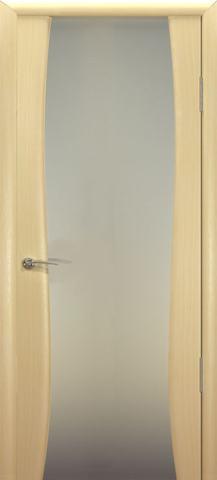 Дверь Океан Буревестник-2, стекло белое, цвет беленый дуб, остекленная
