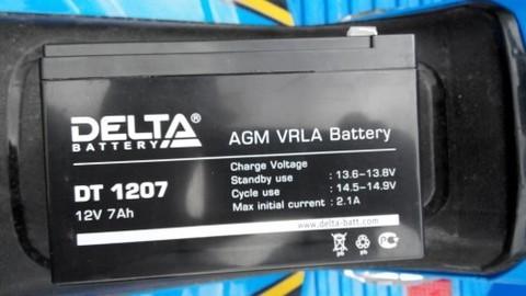 Аккумулятор DELTA 12V 7Ah