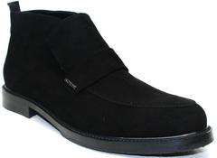 Черные мужские ботинки зимеие Richesse R454