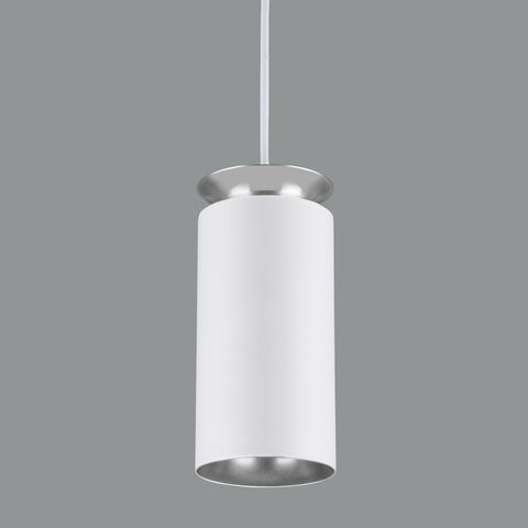 Подвесной светодиодный светильник DLS021 9+4W 4200К белый матовый/серебро