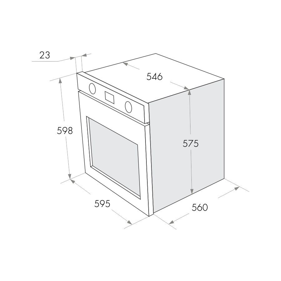 Электрический независимый духовой шкаф Maunfeld MEOFG 676 RILB TR