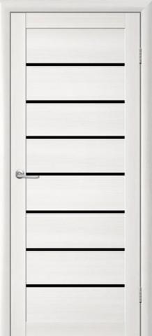 Дверь TrendDoors TDT-1, стекло чёрный акрилат, цвет лиственница белая, остекленная