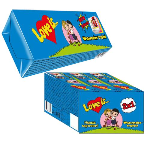 LOVE IS жевательные конфеты со вкусом Арбуз-тропик 18*12*25г