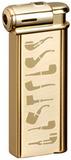 Зажигалка Sarome PSP-14 Gold super satin with pipe designs SR PSP-14