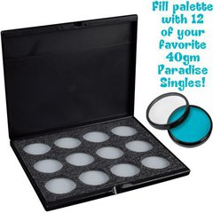 MEHRON Кейс-палитра для 40 г упаковок авквагрима Paradise Makeup AQ ProPalette - 12 Colors