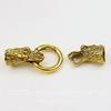"Замок для шнура 11 мм из 3х частей ""Дракон"", 65х25 мм (цвет - античное золото)"