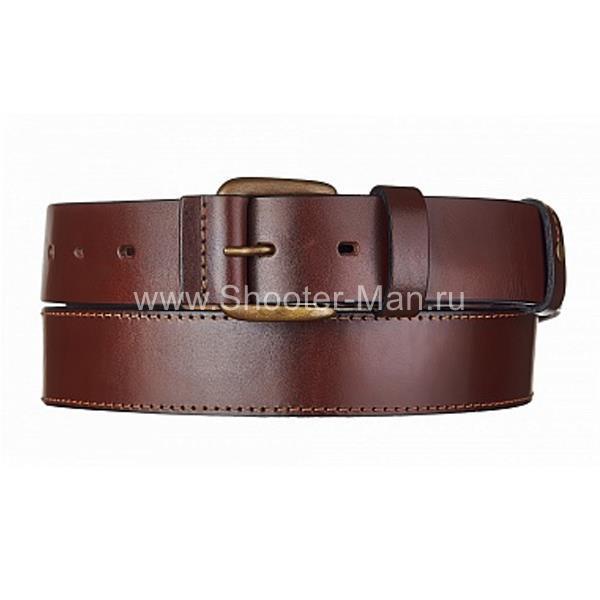 Кожаный ремень брючный с подкладом Тайга 40 мм Стич Профи фото