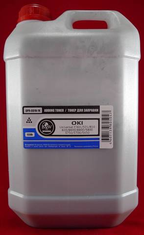 Тонер TOMOEGAWA черный для OKI универсальный, 1 кг. Фасовка Россия