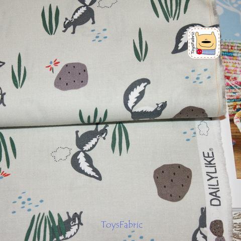Ткань хлопок Корея Daily Like 20871 (скунсы) 45х55см