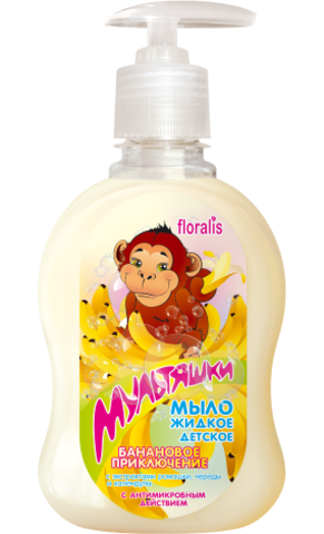 Floralis Мультяшки Мыло жидкое детское «Банановое приключение»  330г