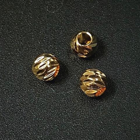 Бусина фактурная 4,7мм цвет золото