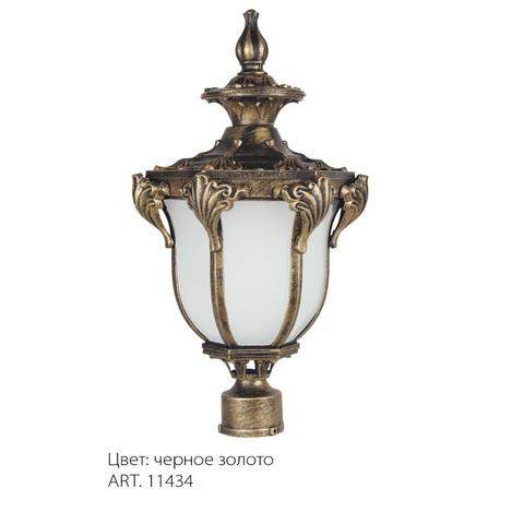 Светильник садово-парковый, 60W 230V E27 IP44 черное золото, PL4055 (Feron)
