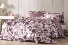 Постельное белье  PIANTE фиолетовый TIVOLYO HOME Турция