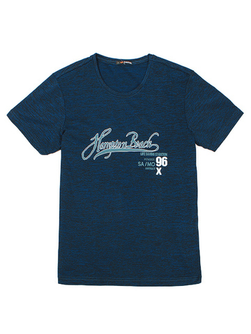 M5577-6 Футболка мужская, синий меланж