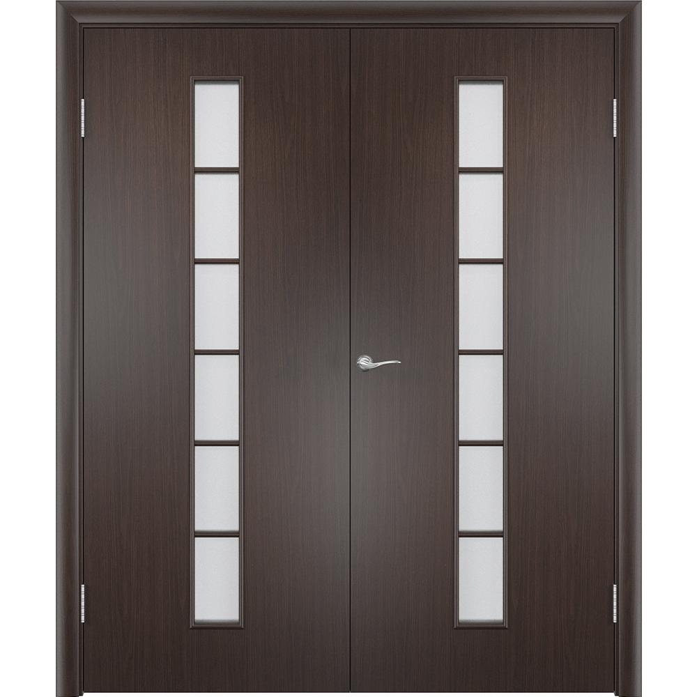 Двустворчатые двери Лесенка венге распашная двустворчатая со стеклом lesenka-por-venge-dvertsov.jpg