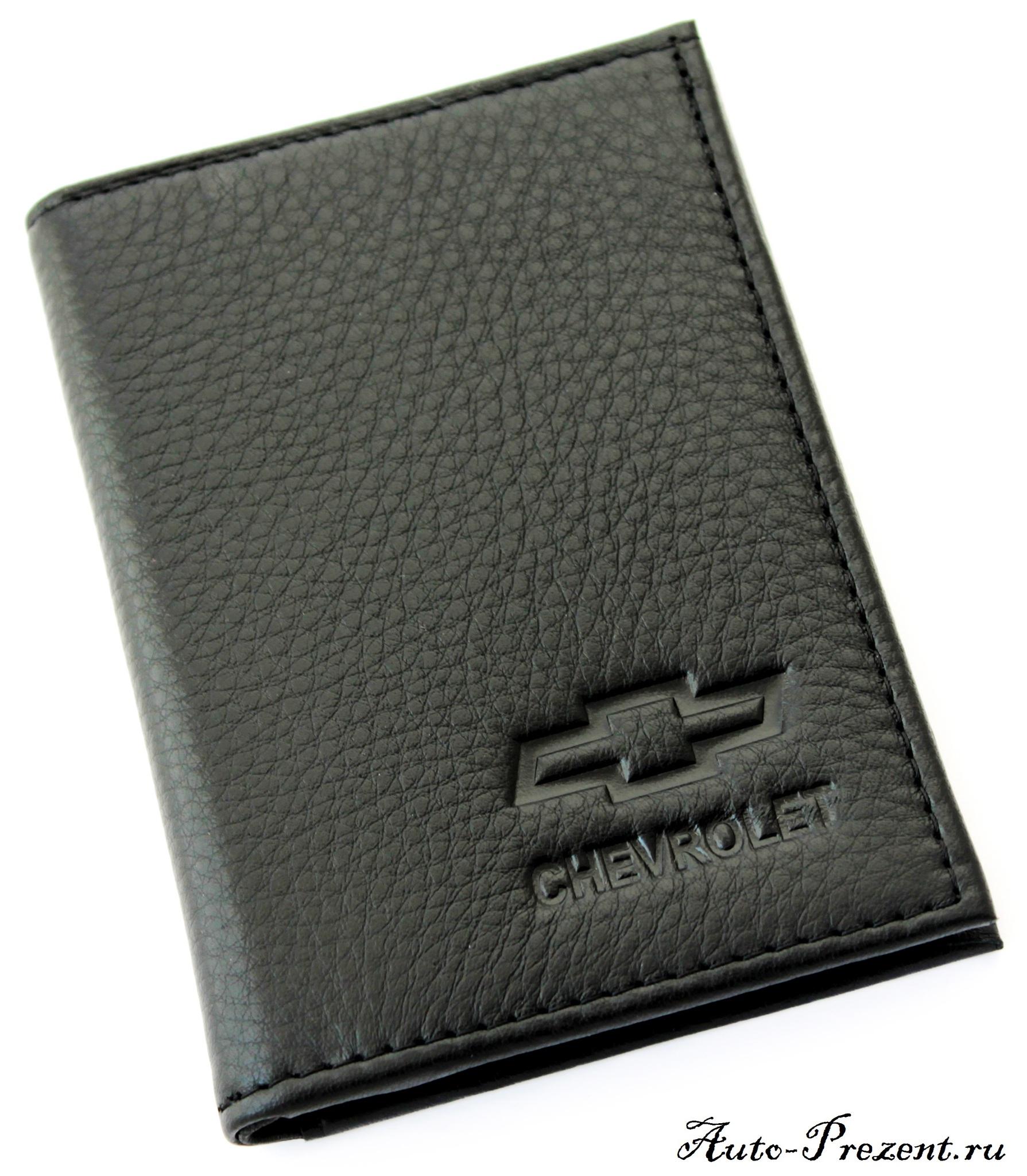 Портмоне для автодокументов из натуральной кожи с логотипом CHEVROLET