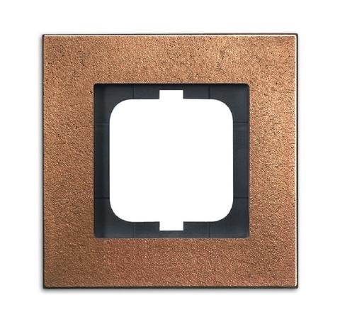 Рамка на 1 пост. Цвет Бронза. ABB(АББ). Carat(Карат). 1754-0-4258