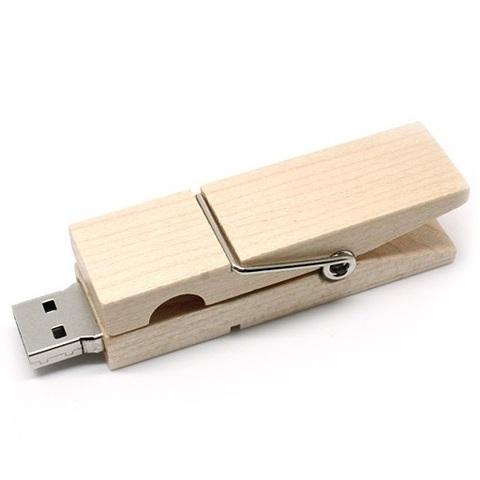 usb-флешка деревянная прищепка