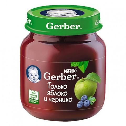 Gerber® Фруктовое пюре яблоко и черника 130 гр