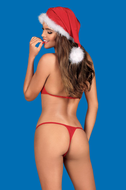 Комплект белья новогодний Santastic красного цвета