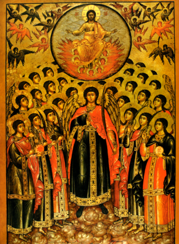 Икона Собор Архангела Михаила на дереве на левкасе мастерская Иконный Дом