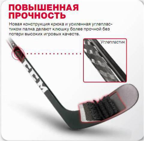 Клюшка хоккейная CCM U+CRAZY LIGHT GRIP SR