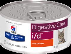 Ветеринарный корм для кошек с расстройствами пищеварения Hill`s Prescription Diet i/d Фарш с курицей