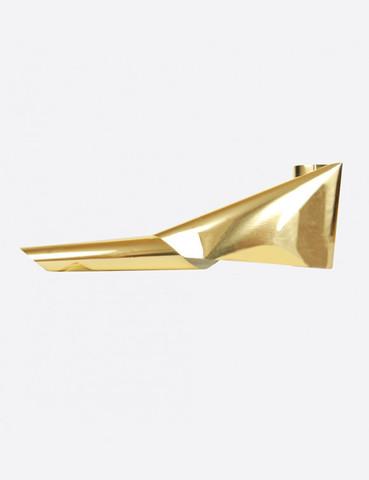 Фольга металлик золото тонкая 1м х 5см 020