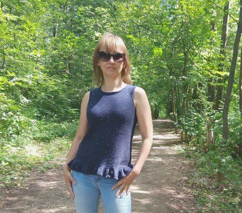 Купить Описание летнего вязаного топа Глория | Интернет-магазин пряжи «Пряха»