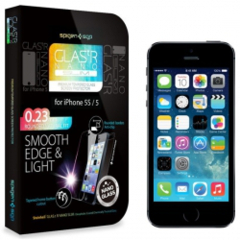 iPhone 5S / 5C / 5 Screen Protector GLAS.tR NANO SLIM - Защитное стекло для iPhone 5S / 5C / 5 (SGP10512)