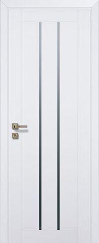 Дверь Profil Doors № 49 U, стекло графит, цвет аляска, остекленная