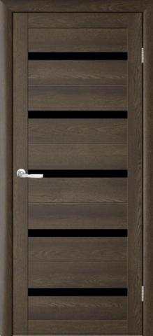 Дверь TrendDoors TDT-2, стекло чёрный акрилат, цвет дуб оксфорд, остекленная