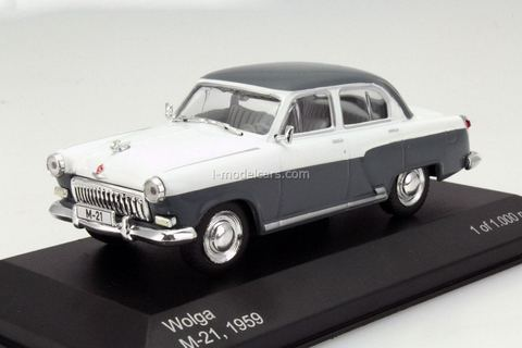 GAZ-21 Volga 1959 M-21 Wolga grey-white WhiteBox 1:43